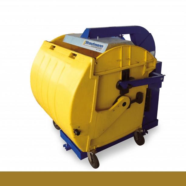 Zariadenia na zhutňovanie komunálneho odpadu vkontajneroch 1100 l, 660l a770l